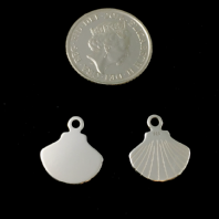 Sterling Silver Shell Charm 13x12mm